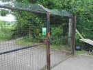 A fox-proof fence protects the wildlife (in a country where foxes are native)