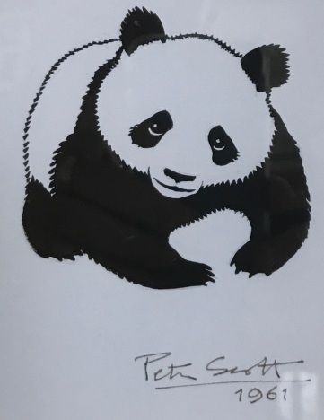 The first iteration of the famous Panda Logo